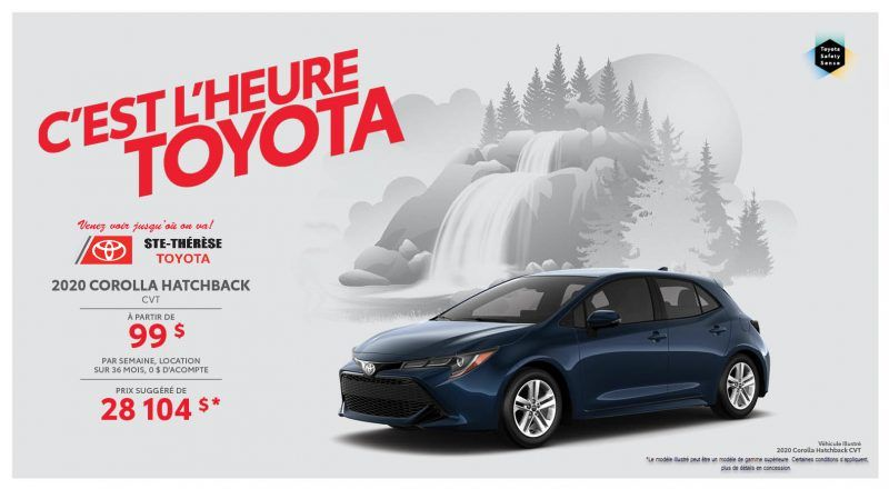 Corolla Hatchback CVT 2020 - Ste-Therese Toyota